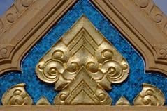 Ornament van de Boeddhistische tempel in Bangkok, Thailand stock afbeelding