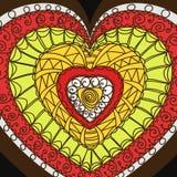 Ornament van harten. Stock Afbeeldingen