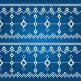 Ornament van witte ruiten (naadloos patroon) Royalty-vrije Stock Foto