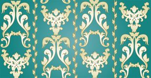 Ornament vector. Ornament on green background, vector royalty free illustration