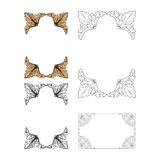 Ornament vector in baroque style for filigree. Baroque vector set of vintage elements for design. Decorative design element filigree calligraphy vector. You can Royalty Free Stock Photo