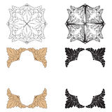 Ornament vector in baroque style for filigree. Royalty Free Stock Photos