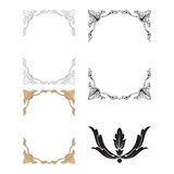 Ornament vector in baroque style for filigree. Baroque vector set of vintage elements for design. Decorative design element filigree calligraphy vector. You can Stock Image