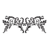 Ornament vector baroque. Vintage baroque frame scroll ornament engraving border floral retro pattern antique style acanthus foliage swirl decorative design royalty free illustration