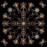 Ornament vector elements, vintage gold floral designs Stock Photos