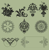 Ornament vector set Royalty Free Stock Photo