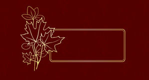 Ornament vignette. A vignette with floral ornament Stock Photos