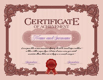 Ornament Vintage Frame Certificate of Achievement Red Stock Photography