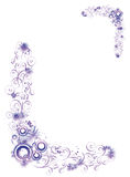 Ornament violet. Violet  floral ornament with flower Royalty Free Stock Photos