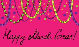 Banner of beads garland. Vector illustration vector illustration