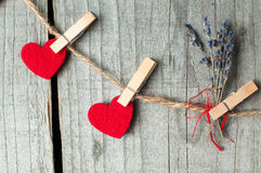 Ornament voor de Dag van Valentine T Royalty-vrije Stock Foto's