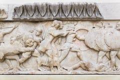 Ornament w Delphi muzeum, Grecja zdjęcia royalty free