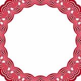 Ornament walentynek serca royalty ilustracja