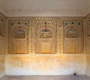 Ornament on wall of palace in Jaipur fort Stock Photography