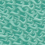 Ornament Waves seamless pattern Royalty Free Stock Photo