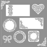Ornament wedding kit Stock Photos