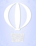 Ornament white balloon for invitation card Stock Photography