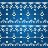 Ornament of white rhombuses (seamless pattern). Seamless texture of rhombuses on a dark blue background. North texture vector illustration