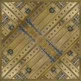 Ornament Wood Background. Creative photo manipulation and collage geometric ancient style ornament background also useful as pattern in brown tones Royalty Free Stock Image