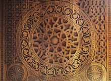 Ornament on wooden door Royalty Free Stock Photo