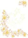 Ornament yellow. With flowers and leaves Stock Photos