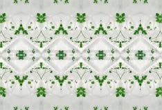 Ornament zieleń liście w lodzie Zdjęcia Royalty Free