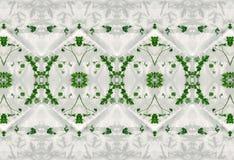 Ornament zieleń liście w lodzie Obraz Stock