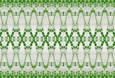 Ornament zieleń liście w lodzie Obraz Royalty Free