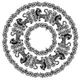 Ornament with Zodiac Sign of Tiger Royalty Free Stock Photo