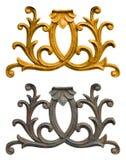 Ornament złoto matrycujący rocznik kwiecisty Zdjęcia Royalty Free