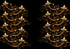 Ornament Zwart Behang Stock Fotografie