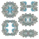 Ornamentação cinco floral decorativa Fotografia de Stock Royalty Free