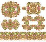 Ornamentação cinco floral decorativa Imagens de Stock Royalty Free