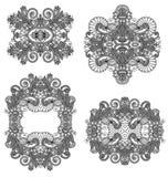 Ornamentação quatro floral decorativa Imagens de Stock