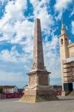 Ornamentacja marmurowy obelisk przy Starym Targowym kwadratem zdjęcia royalty free