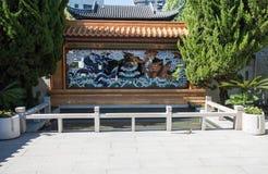 Ornamentacyjna chińczyka ogródu architektura Zdjęcie Royalty Free