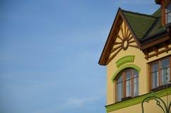 Ornamentacyjna część budynek w komarno Obrazy Royalty Free