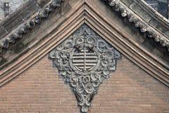 Ornamentacyjna dwuokapowa ściana Zdjęcia Stock