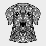 Ornamentacyjna głowa pies - symbol nowy rok 2018 3d odpłacający się pojęcie czarny wizerunek biel Obraz Royalty Free