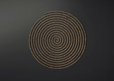 Ornamentacyjna metal spirala ilustracji