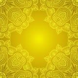 Ornamentacyjna narożnikowej koronki rama Obraz Royalty Free