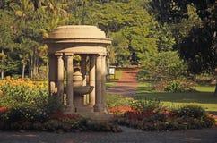 ORNAMENTACYJNA pagody cecha PRZY wejściem DURBAN ogródy botaniczni obrazy stock