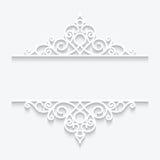 Ornamentacyjna papier rama Zdjęcie Stock