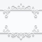 Ornamentacyjna papier rama Zdjęcie Royalty Free