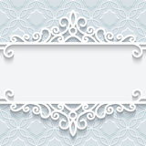 Ornamentacyjna papier rama Fotografia Royalty Free