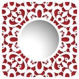 Ornamentacyjna papier rama Obrazy Stock