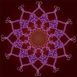 Ornamentacyjna round koronka, okręgu ornament. Obraz Stock