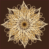 Ornamentacyjna round koronka, okręgu ornament. Obraz Royalty Free