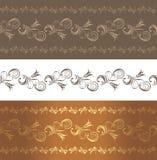 Ornamentacyjne brąz granicy royalty ilustracja