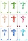 Ornamentacyjne krzyż karty Zdjęcia Stock